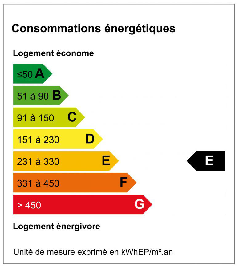 Diagnostique de Performance Energétique - DPE E